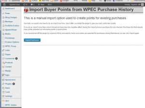 Import Shopper History